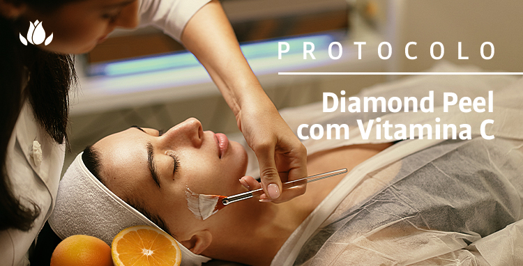 PROTOCOLO DIAMOND PEEL COM VITAMINA C PARA PELES COM MELASMA